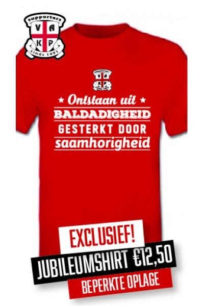 T-Shirt 25 jaar VAK-P Rood