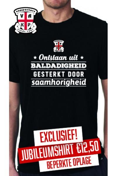 T-Shirt  25 Jaar VAK-P Zwart