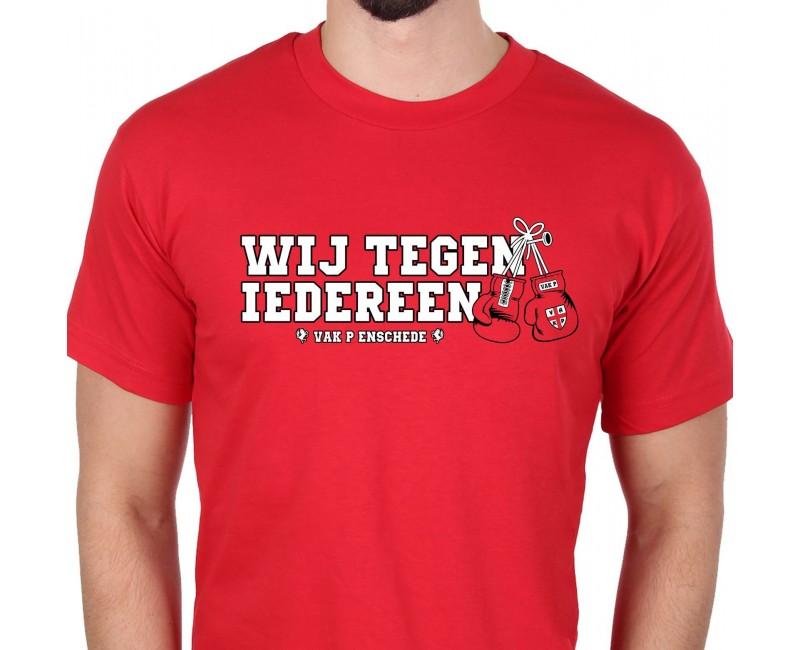 T-Shirt Wij Tegen Iedereen Rood