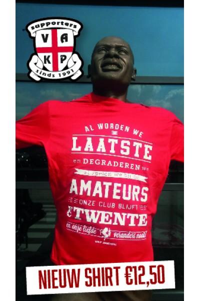 """T-Shirt """"Al worden we...FCT"""". Rood."""